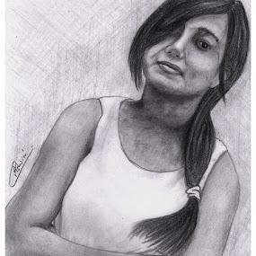 Just A Portrait.... by Ashwini Dey - Drawing All Drawing ( pencil, sketch, girl, ashwini, art, dey, ashwini dey, drawing, portrait )