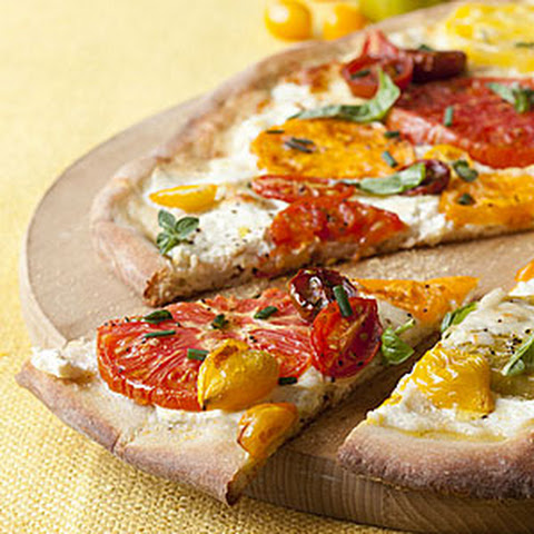 Polenta Pizza With Tomatoes And Ricotta Recipe — Dishmaps