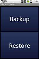 Screenshot of SMS Backup Trial