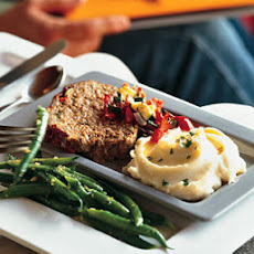 Roasted Vegetable Meatloaf with Mustard Mashed Potatoes