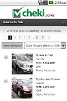 Screenshot of cheki.co.ke Kenyas #1 Car Site