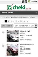 Screenshot of cheki.co.ke Kenyas #1 Car Site