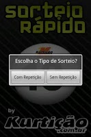 Screenshot of Sorteio Rápido