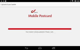 Screenshot of bpost Mobile Postcard