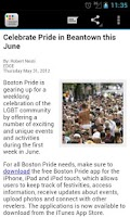 Screenshot of Boston Gay Pride