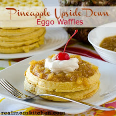Pineapple Upside-Down Eggo Waffles