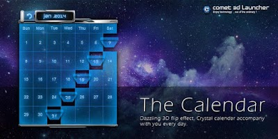 Screenshot of 3D CALENDAR-COMET 3D LAUNCHER
