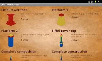 Screenshot of Eiffel Tower in bricks