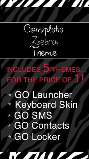 Complete Zebra Theme