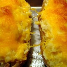 Double Cheese Twice Baked Potatoes
