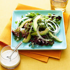 Green Salad with Papaya-seed Dressing