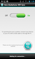 Screenshot of Nero MediaHome WiFi Sync