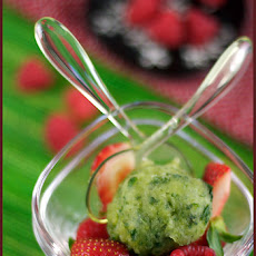 Basil Sorbet and Red Fruit