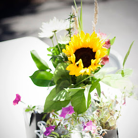 Happy Flowers by Jason Renek - Wedding Details ( jason renek, details, wedding, fine art, devilish, flower arrangement )