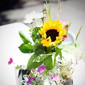 Happy Flowers by Jason Renek - Wedding Details ( jason renek, details, wedding, fine art, devilish, flower arrangement )