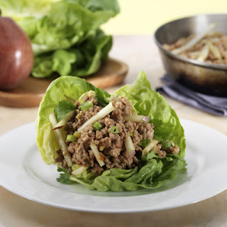 Asian Style Chicken and Pear Lettuce Wraps