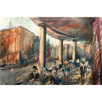 Greenwich London painting art print