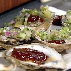 Chipotle Barbecue Oysters with Homemade Salsa Fresca