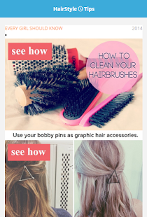 Hair Style Home Tips - screenshot