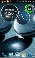 Screenshot of Rings Digital Weather Clock