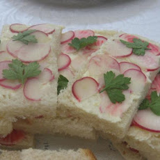 Radish, Parsley and Lemon Butter Tea Sandwiches