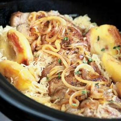 Pork Shoulder with Sauerkraut and Apples