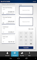 Screenshot of BancFirst Mobile Banking