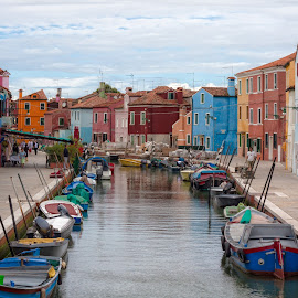 Moving in Venice by Nicola Ibba - City,  Street & Park  Street Scenes ( water, colors, boats, venice, transportation, street scene, italy, canal )