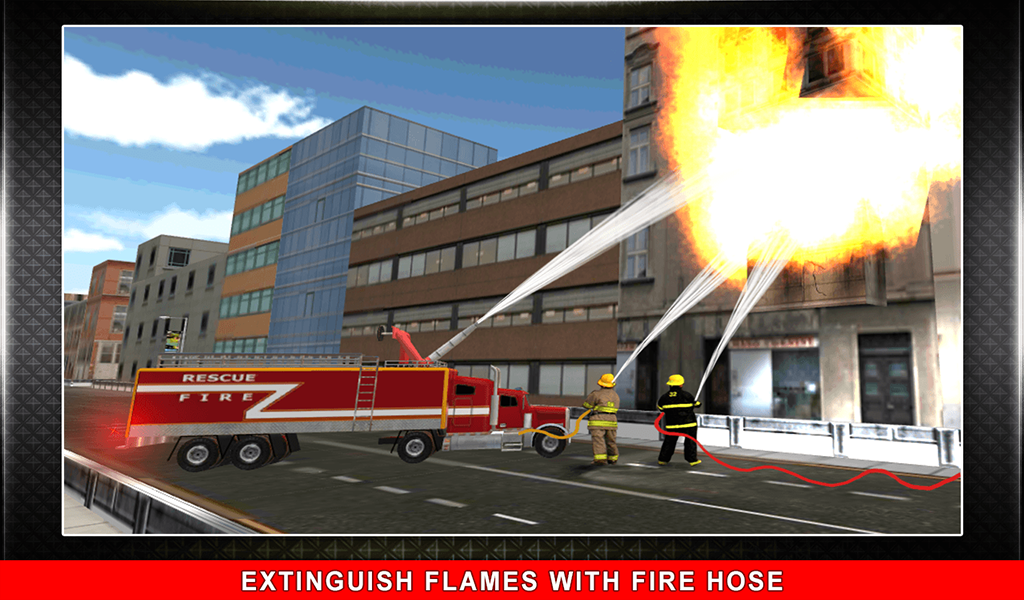 911 Rescue Fire Truck 3D Sim Screenshot 11