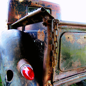 Rusty Rear by Sue Neitzel - Transportation Automobiles ( trucks, old, tailgates, ford, rust,  )