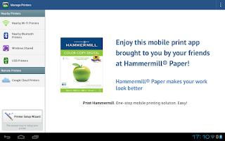 Screenshot of Print Hammermill