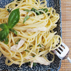 Spaghetti al Limone with Poached Chicken