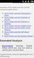 Screenshot of Muggles' Guide to Harry Potter