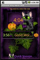 Screenshot of Animated Kitty Clock Widget