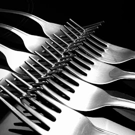 a clash of forks IV by Almas Bavcic - Artistic Objects Other Objects