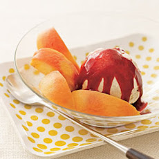 Strawberry-Studded Mango Sorbet