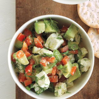 Chunky Avocado and Feta Dip