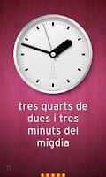 Screenshot of Rellotge Català