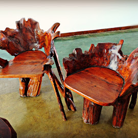 Hardwood Chairs 2 by Tamsin Carlisle - Artistic Objects Furniture ( chair, hardwood, wooden, lobby, wood, chairs, sri lanka, hotel, Chair, Chairs, Sitting,  )