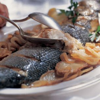 Baked Whole Fish with Sliced Potatoes (Pesce al Forno con le Patate)