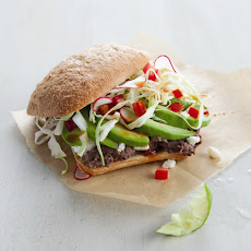 Avocado & Black Bean Tortas