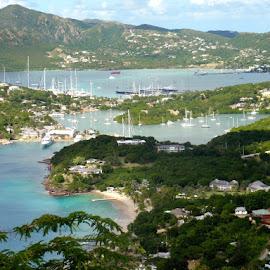 St John's Bay, Antigua by Sherri Hillman - Landscapes Travel ( antigua, boats, st john's bay, marina, landscape )