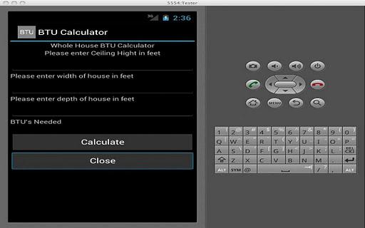 Whole House BTU Calculator