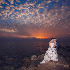 Amazing skies by Mandy Christodoulou - Wedding Bride & Groom ( cyprus wedding photographer, cpbride, cyprus photography, bride and groom in cyprus, cyprus wedding )
