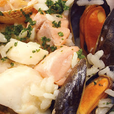 Salmon, Mussel And Cockle Risotto