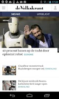 Screenshot of De Volkskrant app