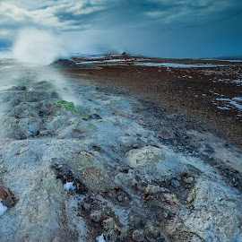 Hot Springs  by Gunnlaugur Örn Valsson - Landscapes Weather ( hot springs colors sky clouds winter iceland,  )