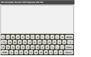 Screenshot of Mini German Keyboard & Pad