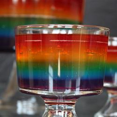 Rainbow Salad Jell-O® Mold