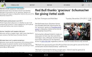 Screenshot of Motorsport Update